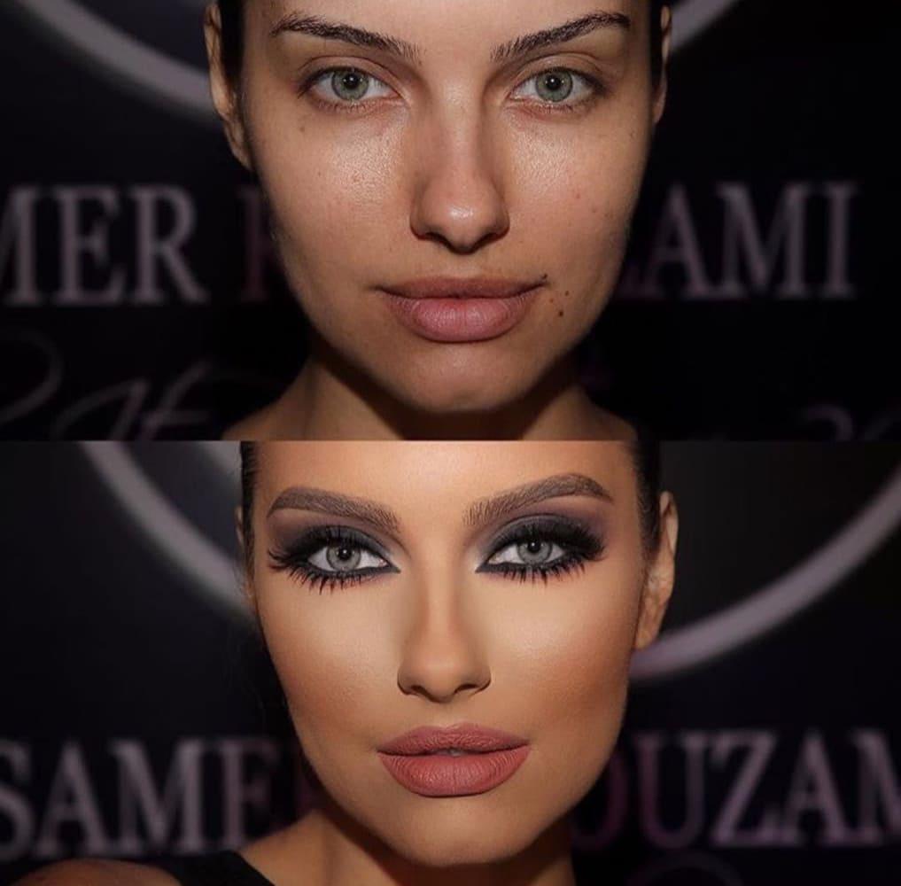 Antes e depois da primeira modelo do Make It Real SK Tour 2016.