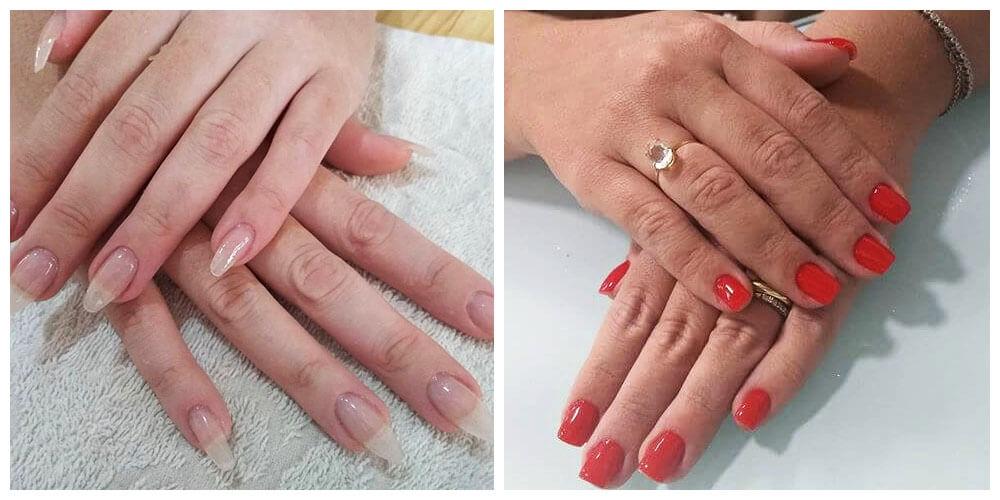 Unhas feitas pela nail designer Bruna.