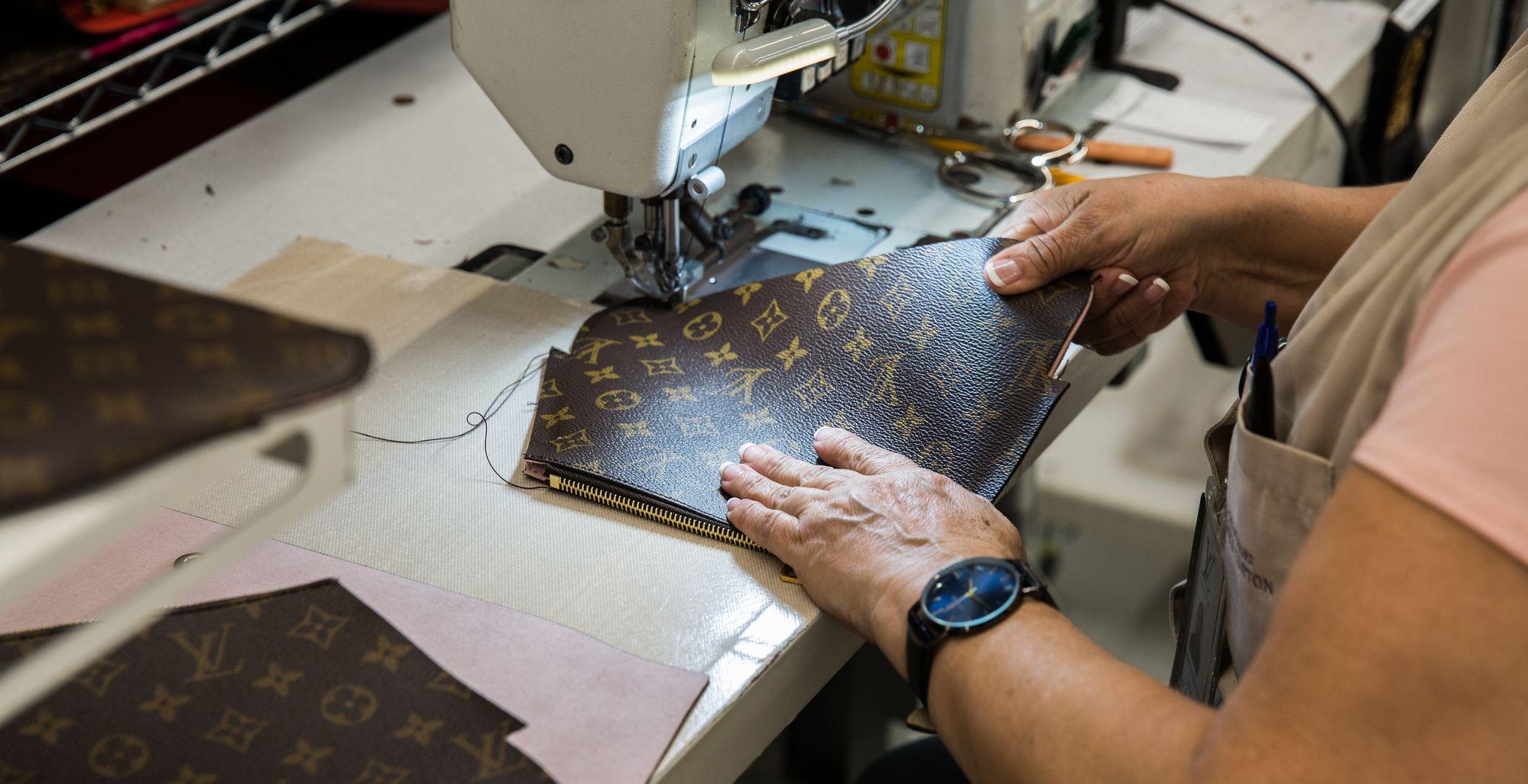 Fábrica da Louis Vuitton.